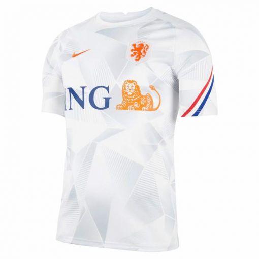 Nederlands elftal training shirt 21/22 - 101 WHITE/WHITE/SAFETY ORANGE/