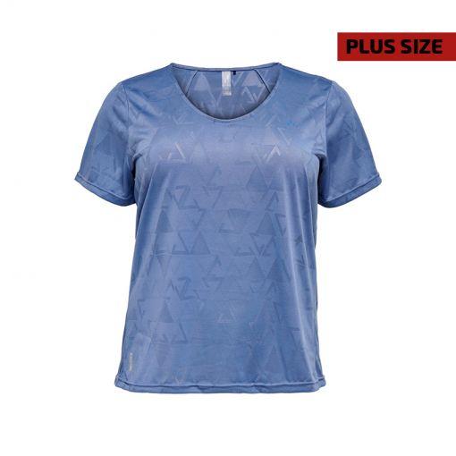 Only dames t-shirt Jue V-Neck SS Train Tee - Curvy - 180079 Bijou Blue