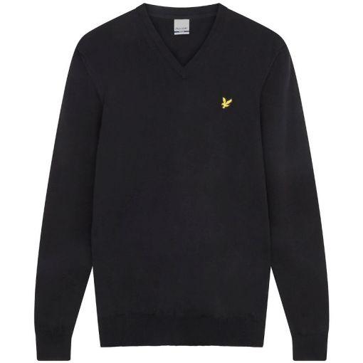 Golf V Neck Pullover - 572 True Black