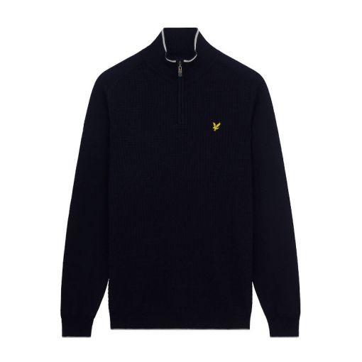 Branded 1/4 Zip Pullover - Z05 Navy