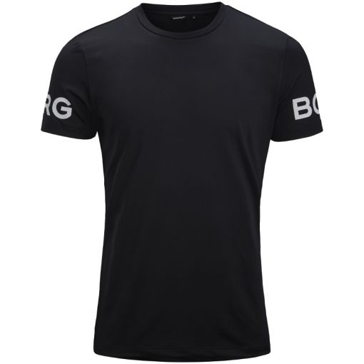 Björn Borg heren t-shirt Tee Borg - 90651 Black Beauty