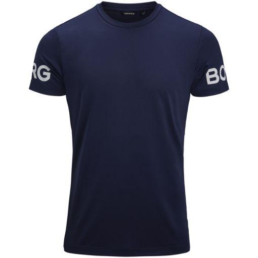 Björn Borg heren t-shirt Tee Borg - 70011 Peacoat