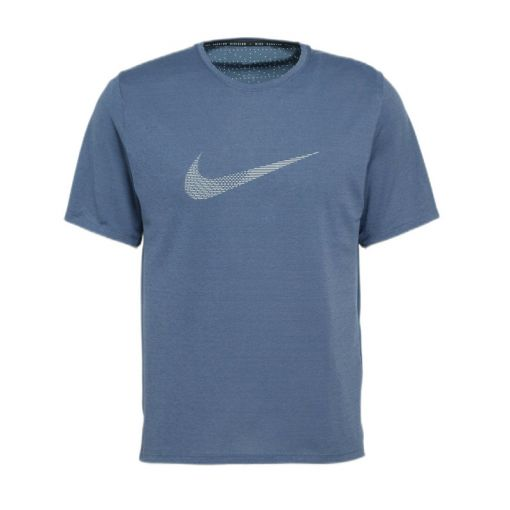 Nike heren t-shirt Run Division Miler - 437 THUNDER BLUE/REFLECTIVE SI
