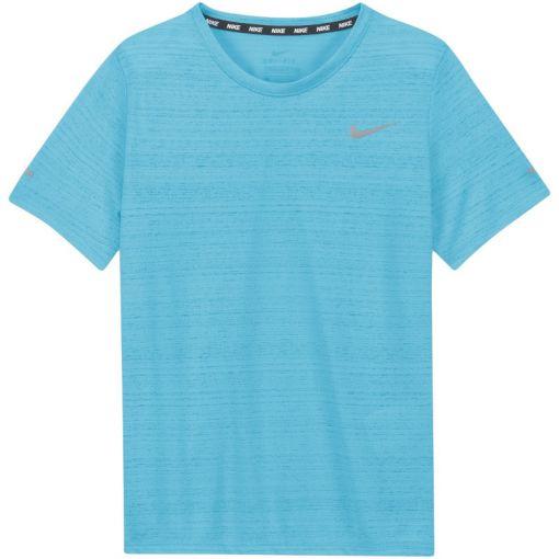 Nike jongens t-shirt Dri-Fit Miler Big Kids - 447 CHLORINE BLUE